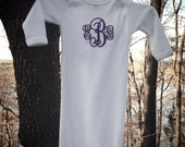 Personalized Newborn Layette Gift Monogram Gown for Boys or Girls Great Shower Gift