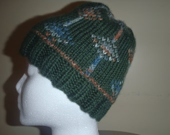 Diamond Trellis Double Knit Hat and Mittens Pattern