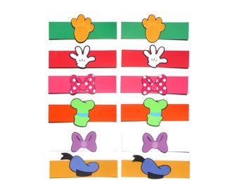 Mickey Mouse Clubhouse Themed Party Napkin Rings Set of 12 for Birthday Party Decoration