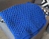 Royal Blue Crochet Baby Blanket