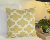 Decorative Pillow Cover Cushions - Wheat Yellow Moroccan Pillow Cover - 18 x 18 Accent Cushion