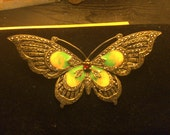 No. 124 Vintage Silver, Jewel, and Enamel Brooch