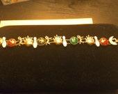 No. 130 Vintage Bowling Charm Bracelet