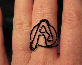 Wire Wrapped Avengers Symbol MADE to ORDER Ring