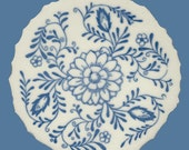 Mosaic Tiles Blue Brazilian Flowers & Leaves Focal Center Medallion FREE SHIP Tesserae Handmade Cut Nipped Dinnerware Mosaics