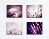 Purple Canvas Photography - nature set plum wall art dark purple light botanical prints violet canvases gallery wraps modern wrapped canvas