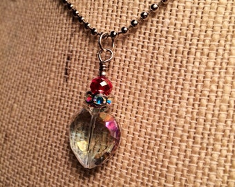 Crystal Valentine Heart Pendant Necklace