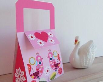 Pretty pink, printable, gift, bag