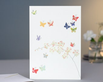 Butterflies & Orchids Card