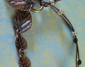 Leaves Copper Tone Bracelet -  Symbol of HOPE