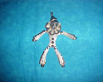 """SALE  Vintage, 5"""" long, chunky, whimsical, clown pendant. Was 49.00."""