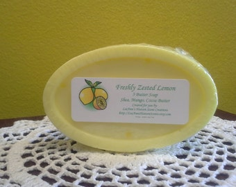 Herbal Three Butter Soap-Double Mint, Eucalyptus, Fresh Mint, Lavender, Lemongrass Verbena, Peppermint..You Choose Fragrance