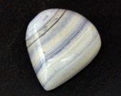 Blue Lace Agate Cabochon Stone (18mm x 16mm x 7mm) - Drop Cabochon