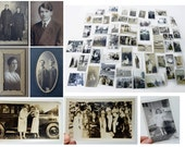paper ephemera,set of vintage photos,60+,early 1900s through the 1950s, black and white, sepia,matted and loose, really charming imagery