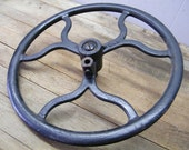 Old Cast Iron Salvage Treadle Sewing Machine Pulley Wheel Steampunk
