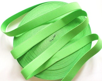 "1"" Lime Green Stretch Elastic Band"