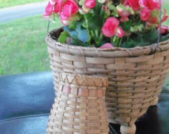Basket Primitive Pocket Farm Kitchen Find