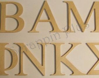 1 Dozen Unfinished 2 inch Greek Laser Cut Wooden Letters - plede, initiation, gift