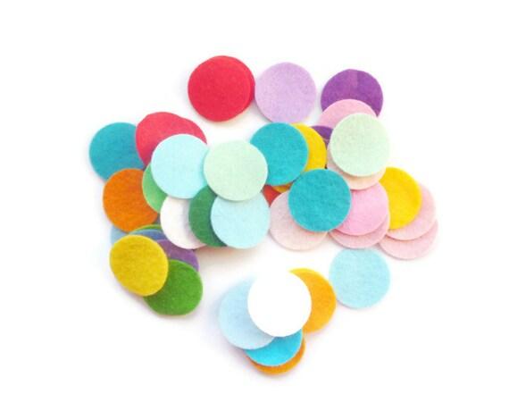 Die cut felt circles colour mix 1 inch felt shapes arts and crafts, felt circles set of 50