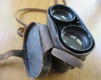 Leather-covered Deraisme of Paris Binoculars with Original Case