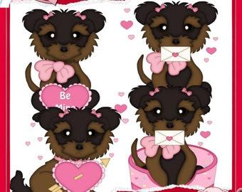 Valentine Puppy Love 1 Clipart (Digital Download)