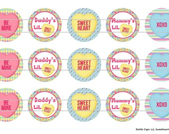 "15 LiL Sweetheart 1 Digital Download for 1"" Bottle Caps (4x6)"