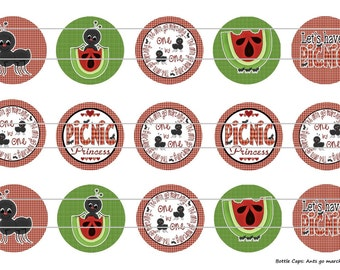 "15 Ants Go Marching 1 Images Digital Download for 1"" Bottle Caps (4x6)"
