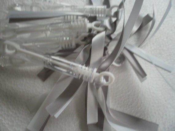 100 Wedding Bubbles Party Bubbles Custom Color Satin Ribbon