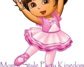 Dora Ballerina iron-on transfer