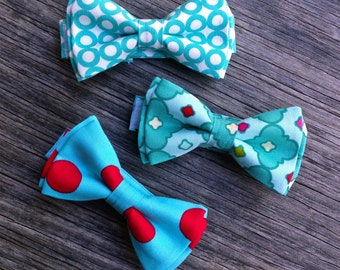 Bowtie - Christmas Bow Tie - Christmas Ties for Boys - New Year Bow Tie - Cake Smash photoshoot - Aqua Bow Tie - Christmas baby