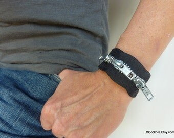 "Men's or Women's Zipper Bracelet 7"", 8"", or 9"""