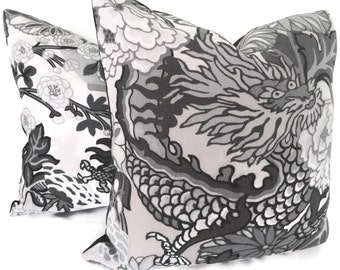 Schumacher Citron Shanghai Peacock Pillow Cover By Popocolor