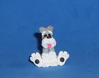 Polymer Clay Schnauzer Dog