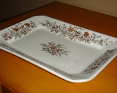 Antique Wedgewood Ironstone Floral Transfer Ware Serving Platter