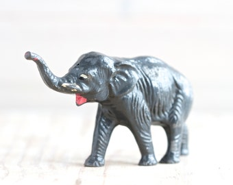 Iron Cast Elephant - Antique Lead Toy Animal