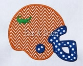 Gator Football Helmet Applique Design Machine Embroidery INSTANT DOWNLOAD