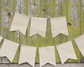 Burlap Swallow Tail Pennant Garland