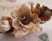 Woodland Delphinium Flower Hair Clip - Natural Boho Rustic Hippie Wedding