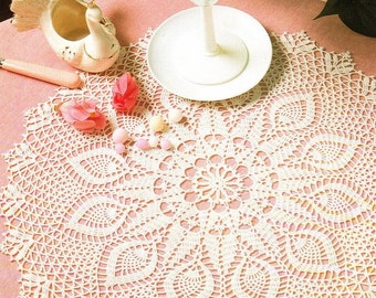 crochet doily, table decoration, center piece  PATTERN (chart with directions)