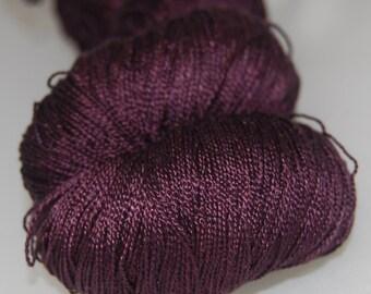 Maroon- Mulberry silk 100% (2ply ,) handdyed yarn