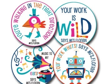 WILD Personalized stickers for Teachers