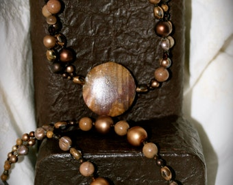 Copper Tones Necklace and Bracelet