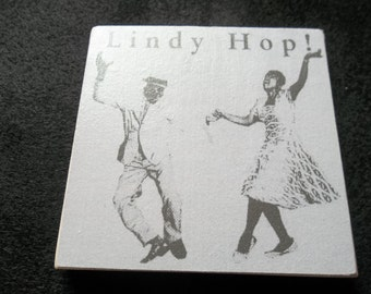 Lindy Hop African American Handmade Stone coaster