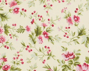 78043 - Free Spirit Verna Mosquera Pirouette collection - Subtler blooms in opal   color- 1 yard