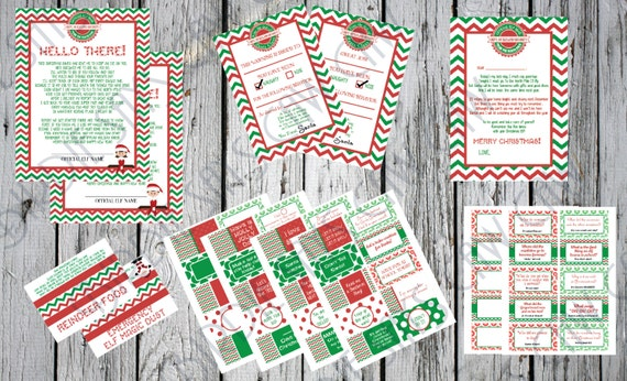 Printable Elf On The Shelf Pack