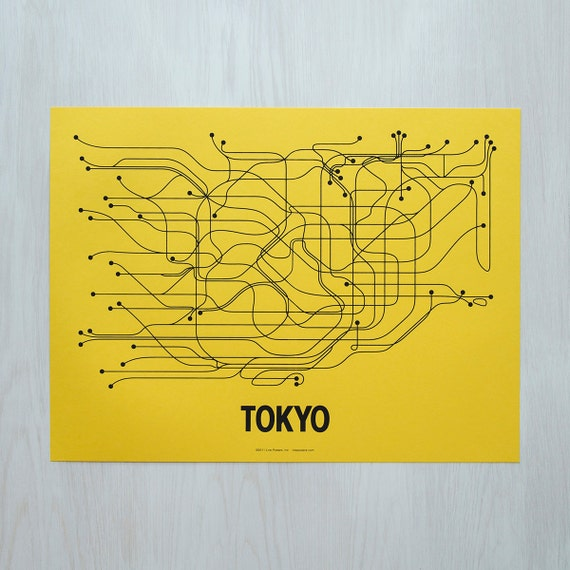 Tokyo Screen Print - Yellow/Black