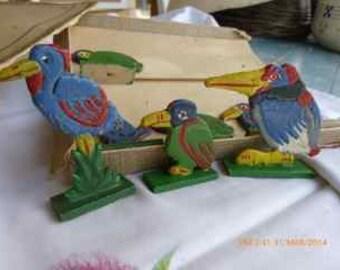 set of 8 antique animals