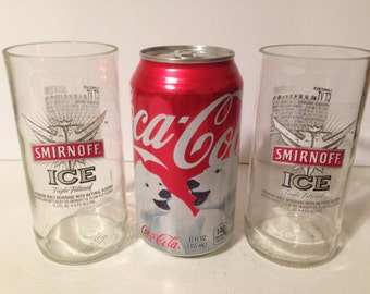 Smirnoff Ice Glasses for Recycled Bottles - Set of 2
