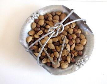 Vintage Aluminum Basket / Nut Dish / Candy Dish