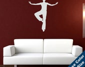 Standing Meditating Woman Wall Decal - Vinyl Sticker - Free Shipping